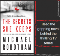 The Secrets She Keeps by Michael Robotham Library Poster